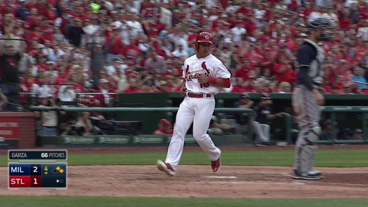Cardinals tie game on error