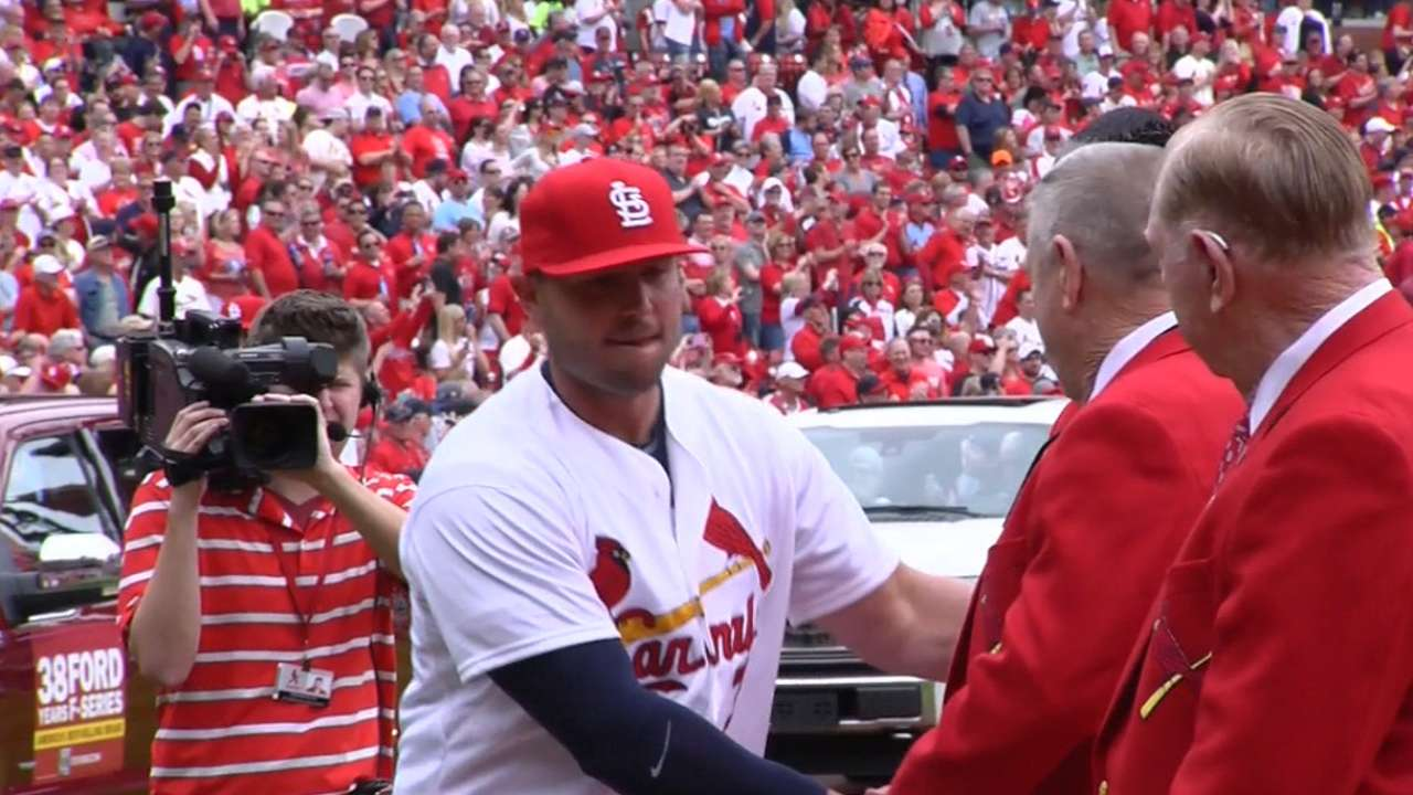 Cardinals' intros before opener