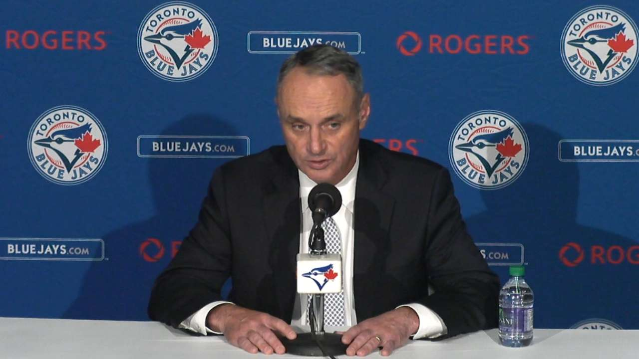 Manfred open to All-Star Game in Toronto