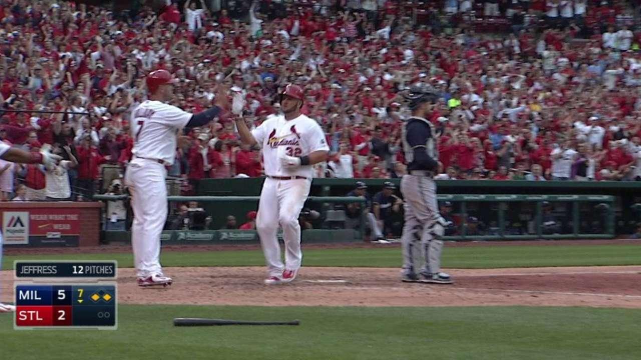 Peralta's two-run double