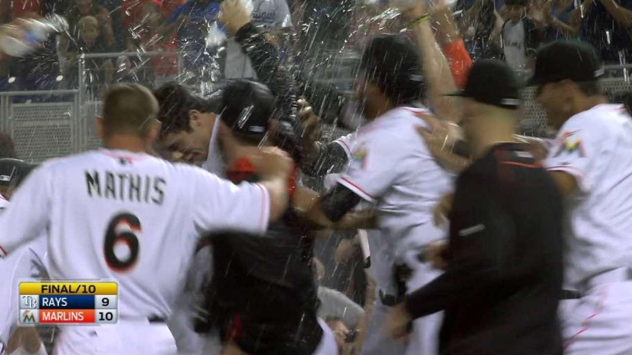 Yelich's walk-off helps Marlins edge feisty Rays