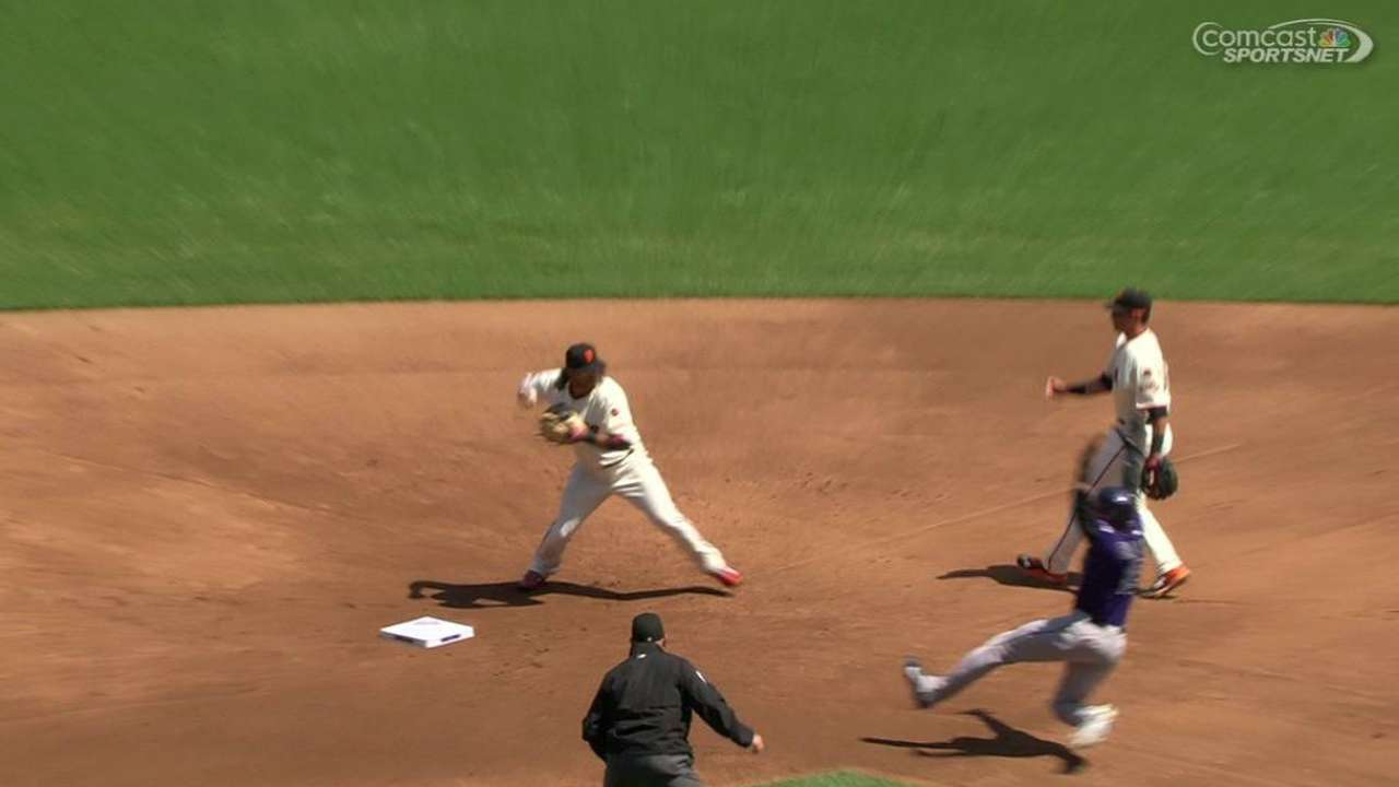 Panik starts a double play
