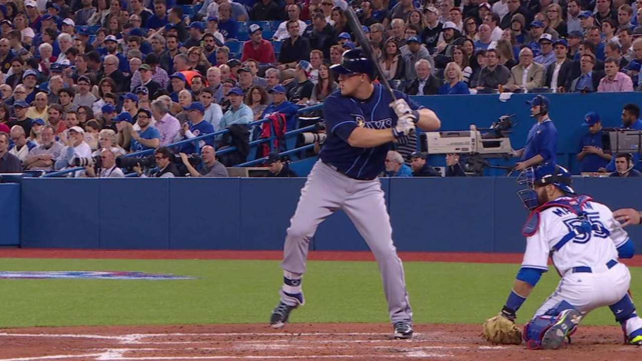 Dykstra's first big-league hit
