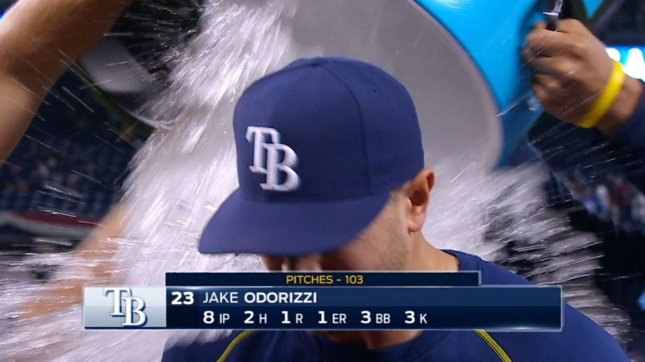 Odorizzi gets early shower