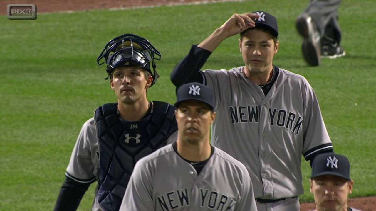 Yankees to continue to play matchups in save situations