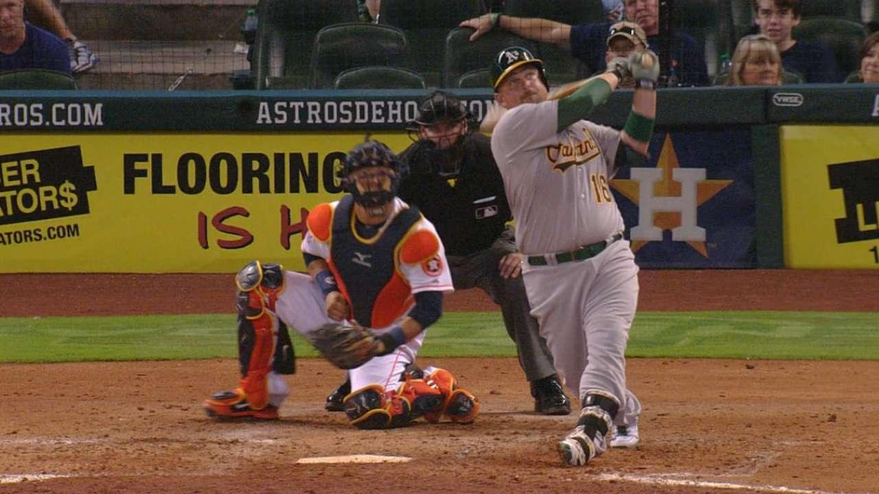 A's find power stroke as Kazmir stifles Astros