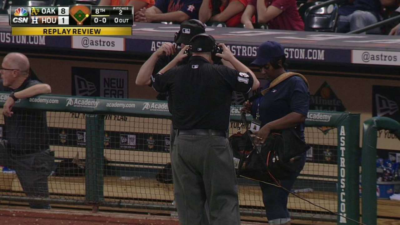 Safe call at first stands in 8th