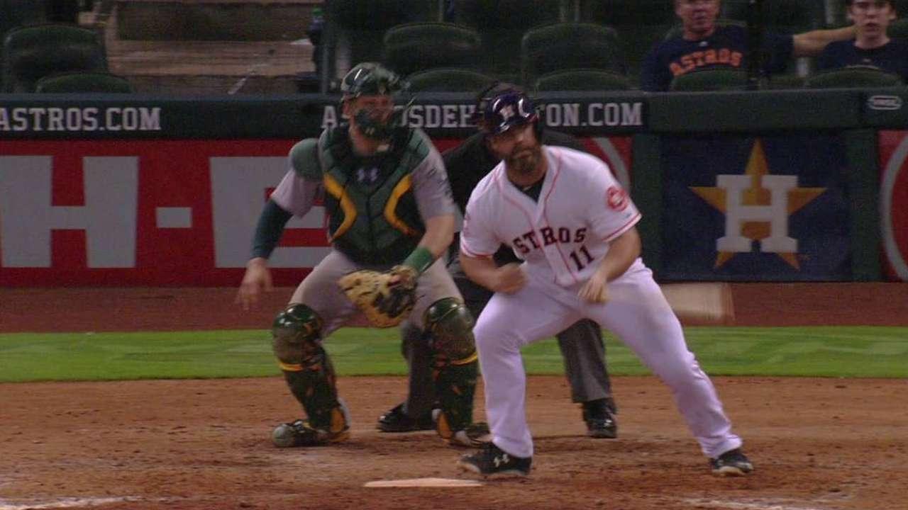 Gattis' first Astros hit