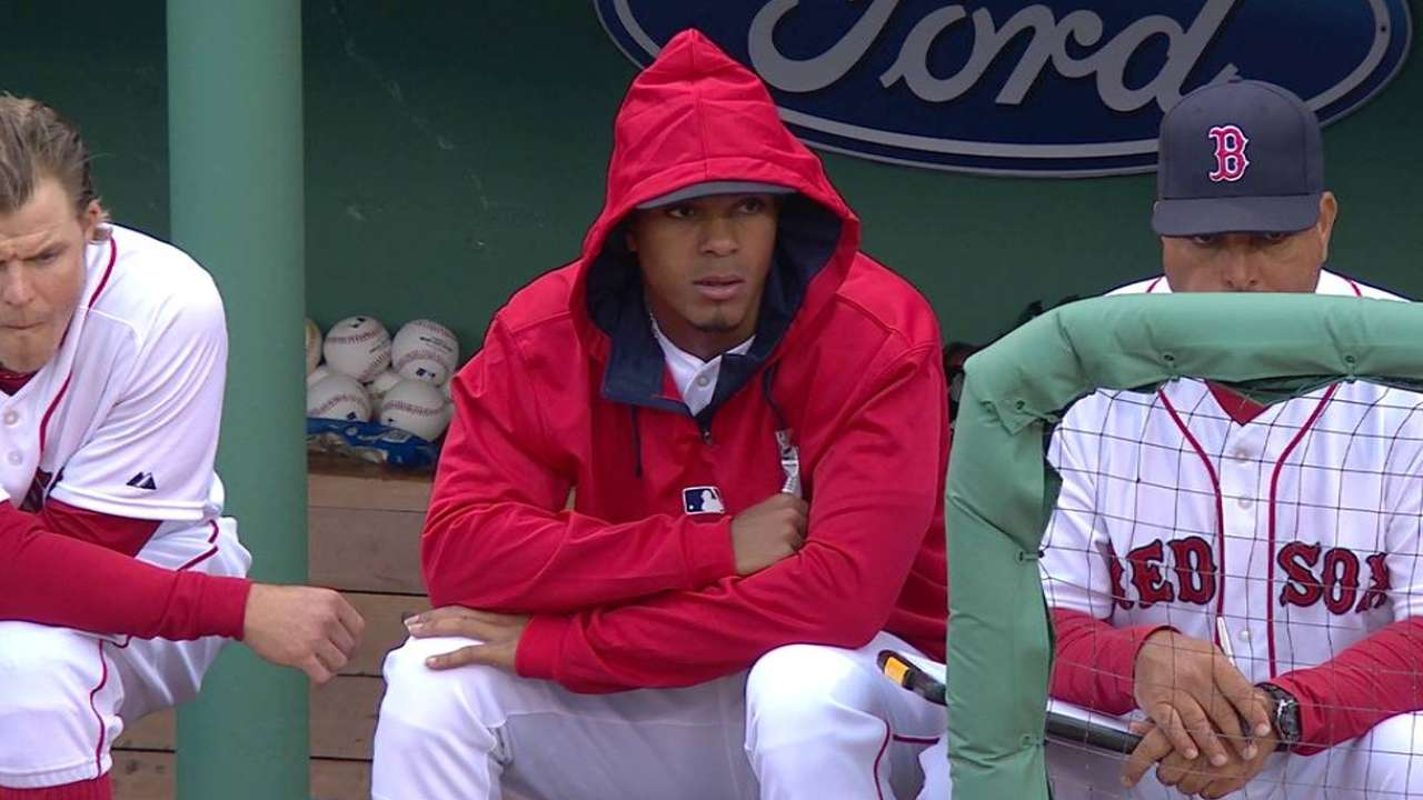 Bogaerts day to day with sore right knee