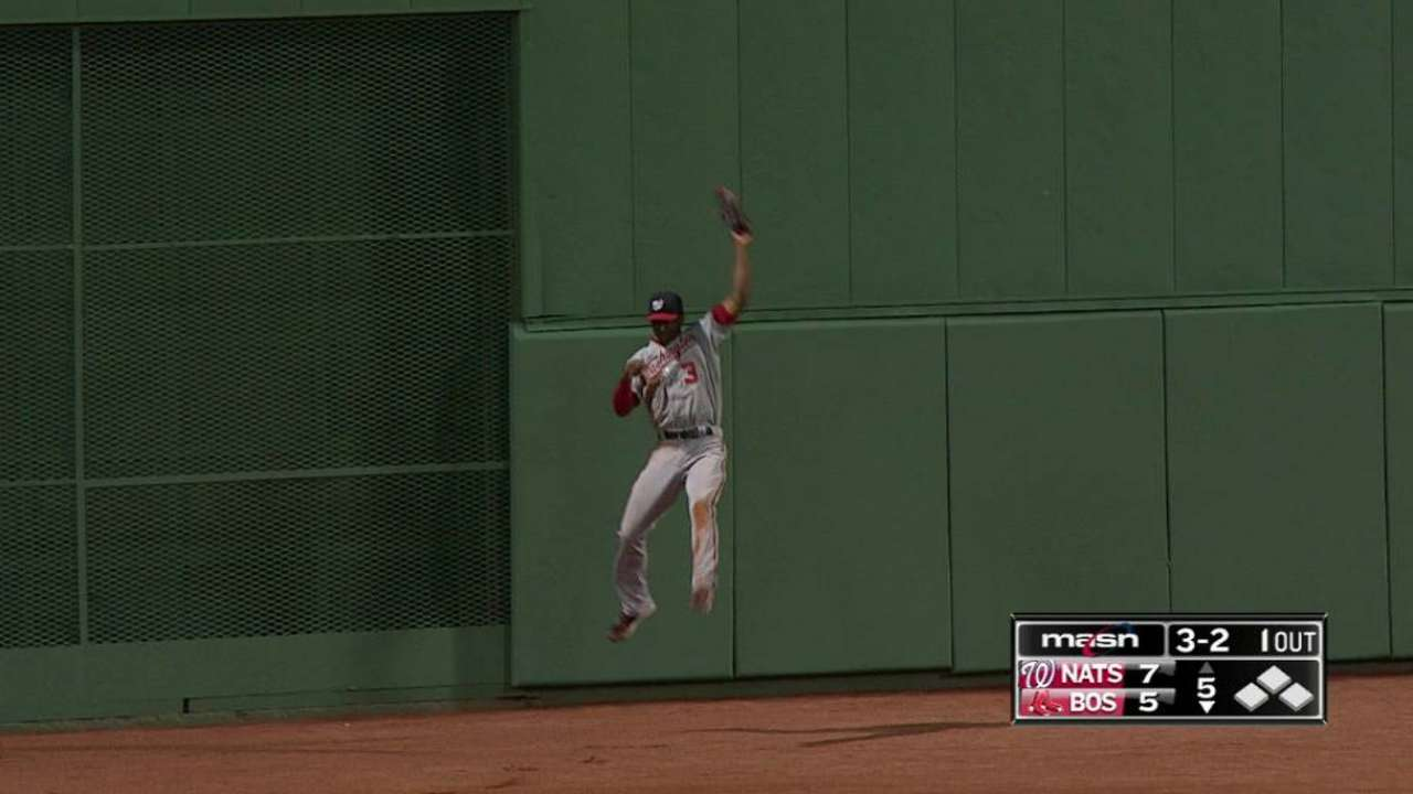 Taylor's leaping catch