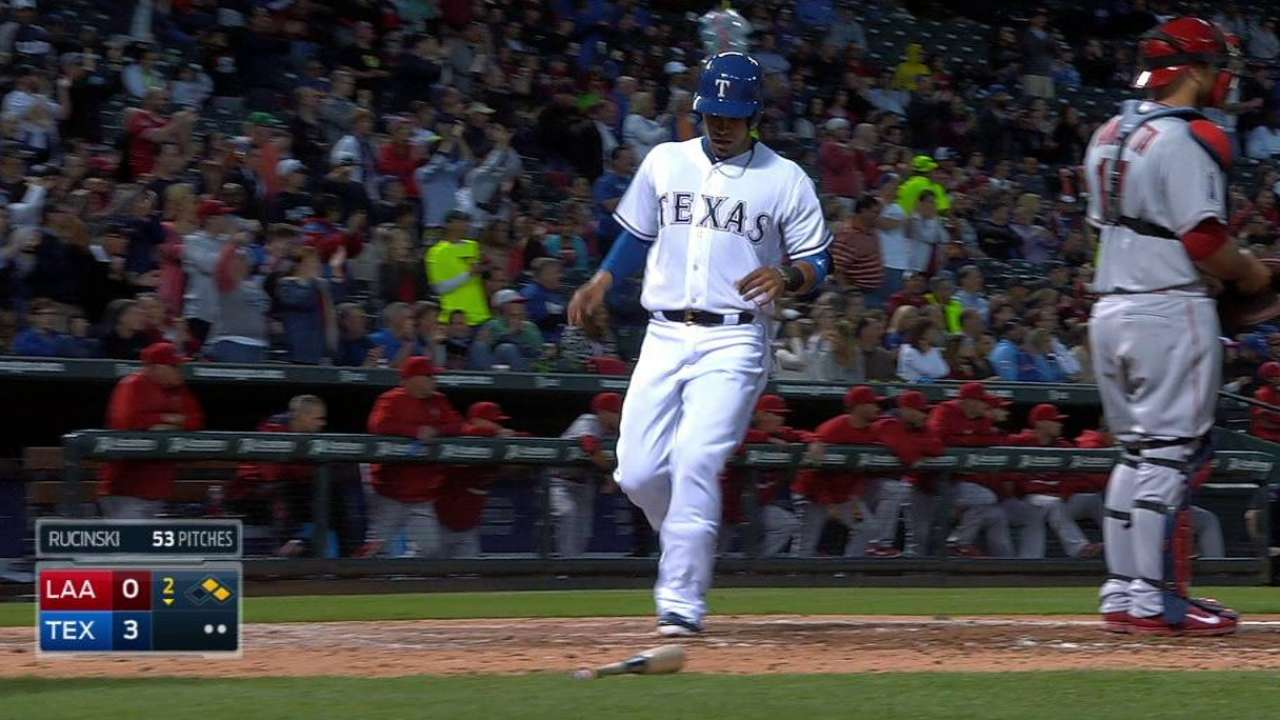 Rangers break out with Odor slotted atop lineup