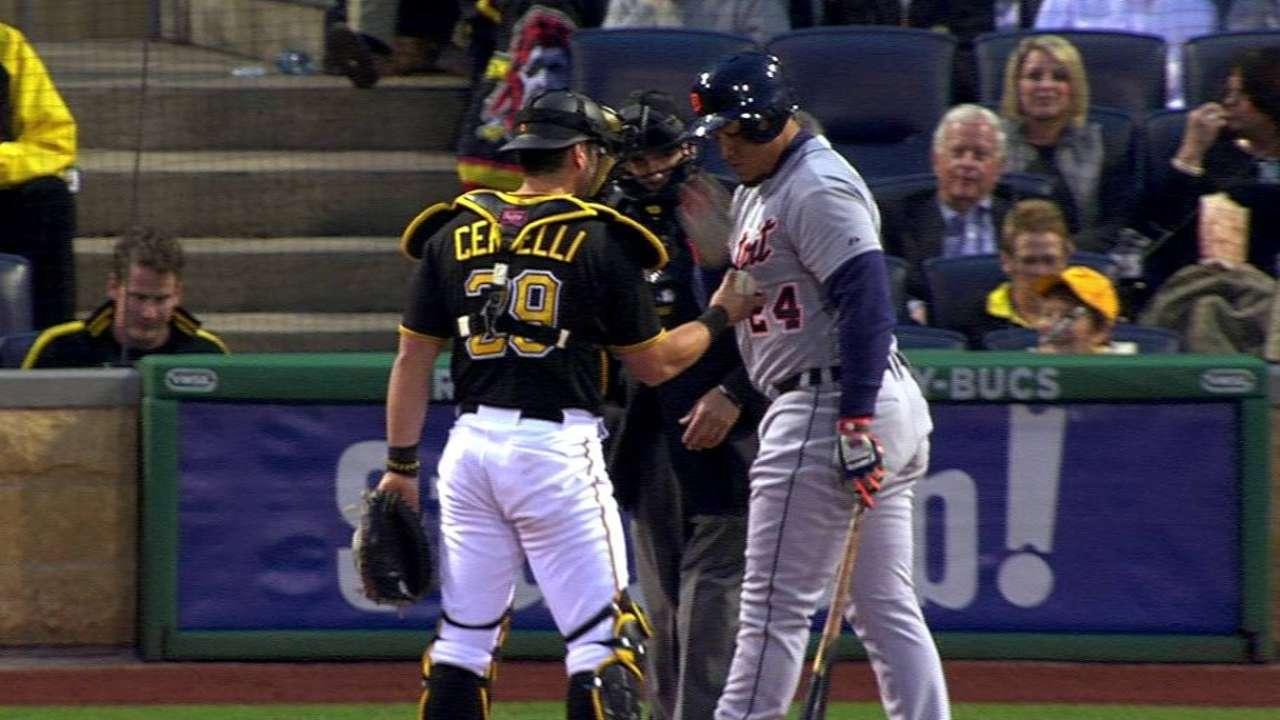 Miggy's slap of baseball all in good fun, says Cervelli