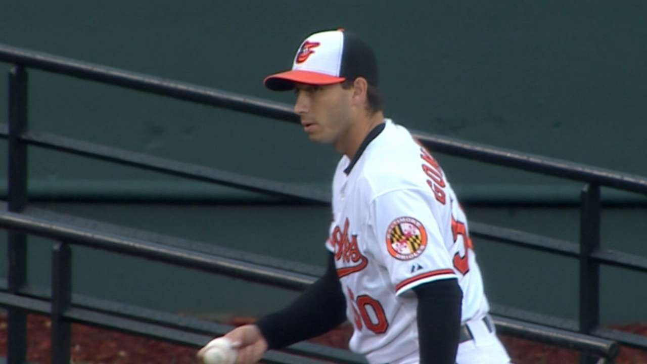 Gonzalez, Jones too much for Yanks as O's even series