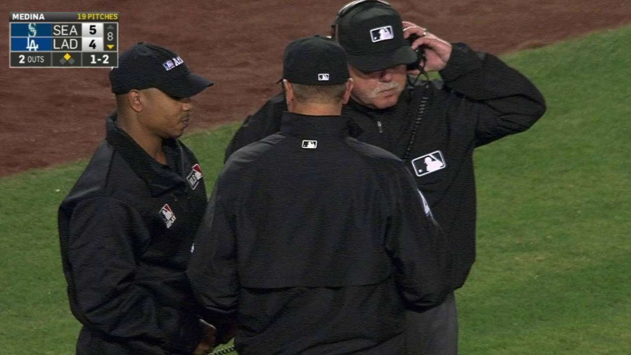 Safe call overturned in 8th