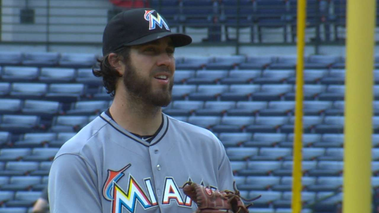 Haren bounces back after first, shuts down Braves