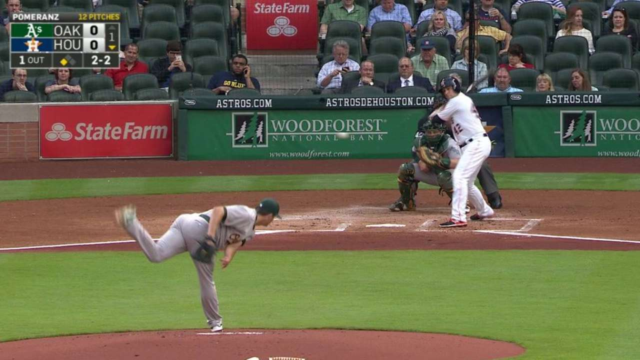 Lowrie's two-run homer
