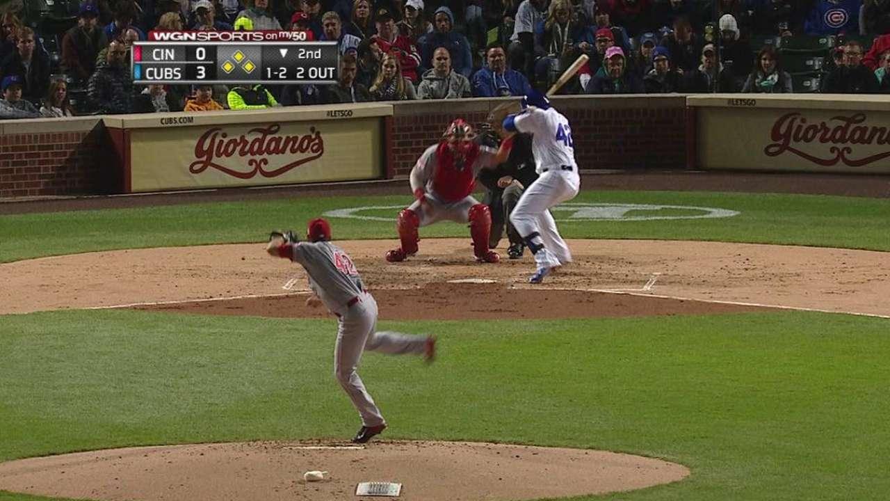Cubs score after Soler gets hit