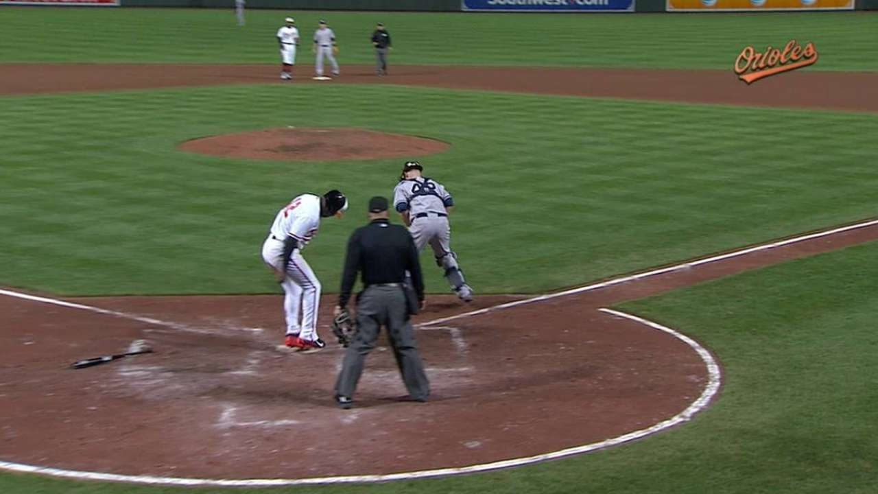 Five-run sixth sends O's to series win over Yanks