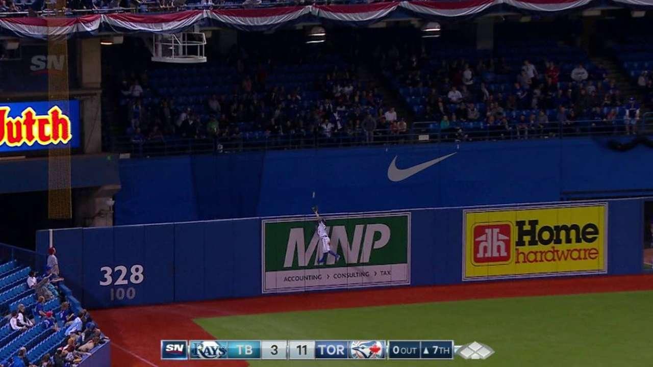 Pillar robs a home run