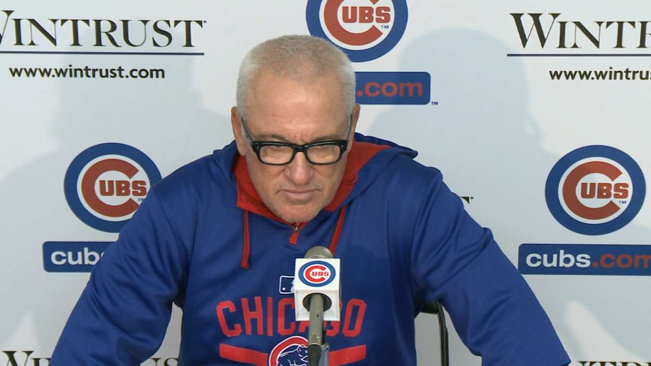 Maddon on Wood's performance