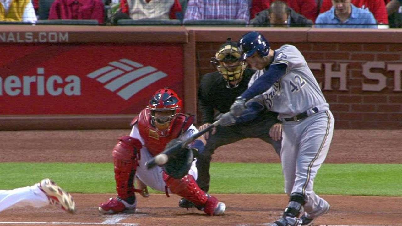Lucroy's 1st-inning single