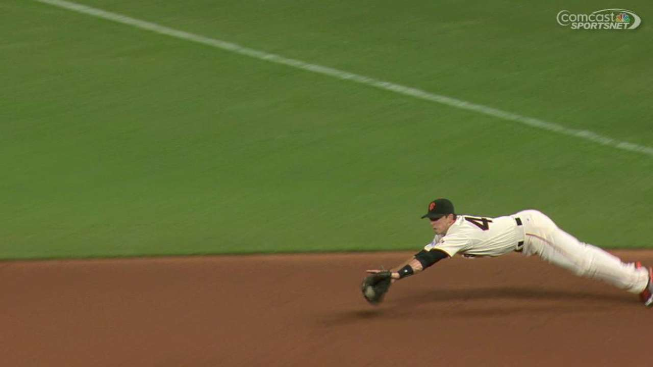 Posey's diving stop
