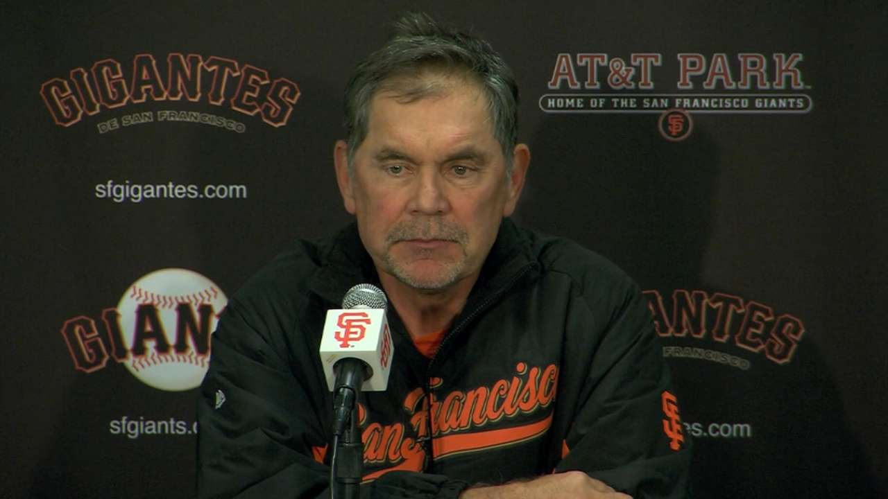 Bochy on Lincecum in loss