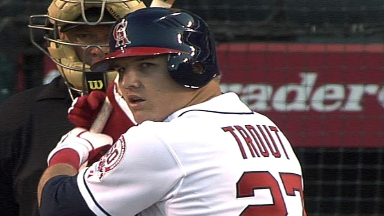 Trout's MLB debut