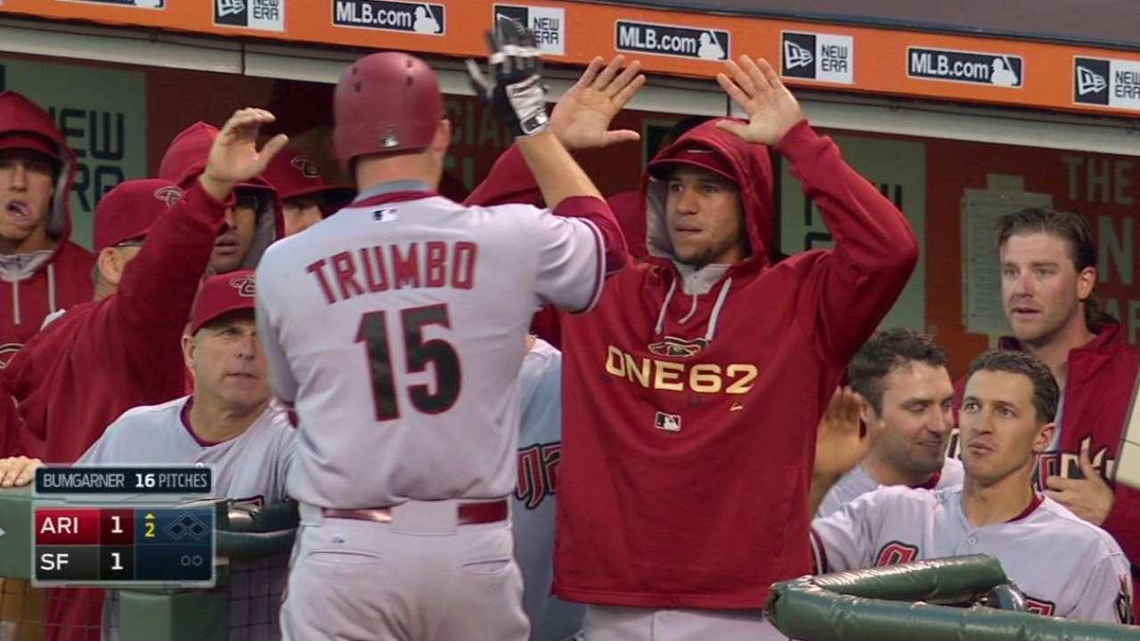 Trumbo's solo shot