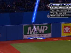 MLB Central uses Statcast on Pillar's amazing catch