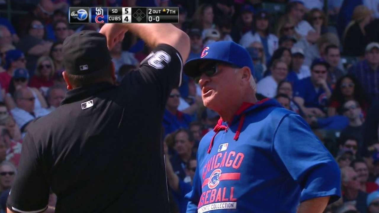 Maddon's first Cubs ejection comes after key homer