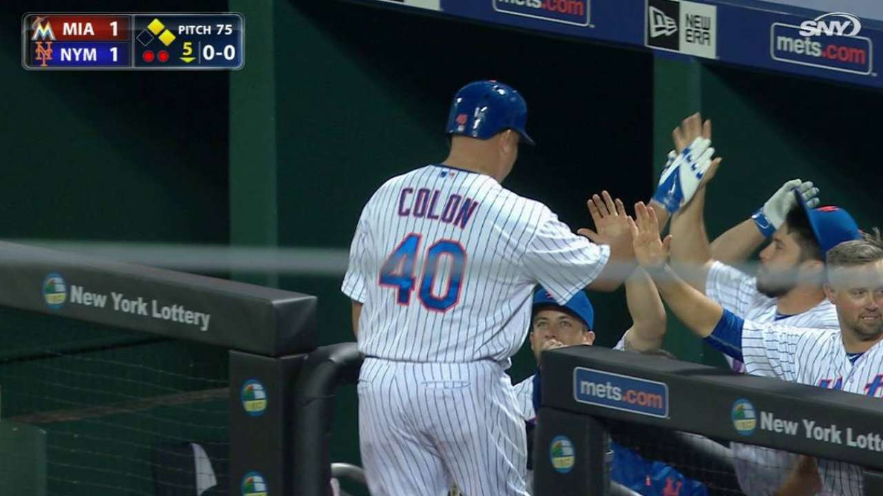 Colon produces unlikely tying run while tossing seven