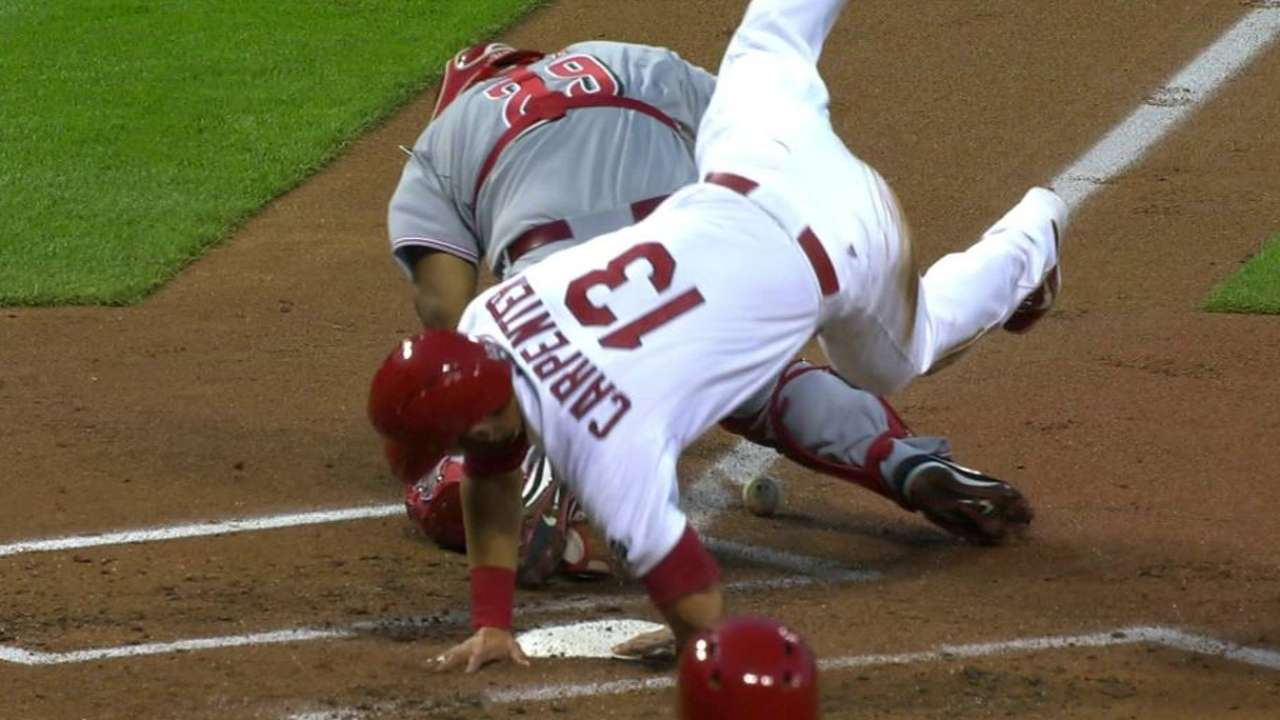Matheny seeks clarification on play at the plate