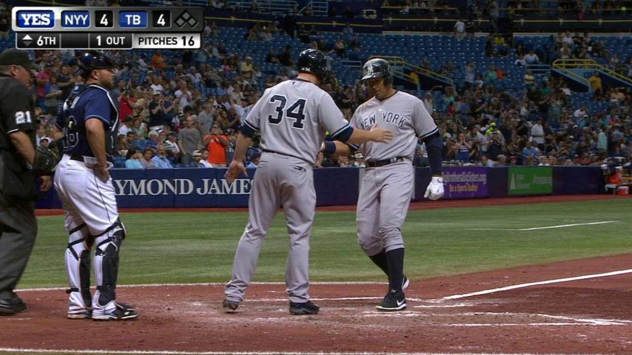 A-Rod sacude 2 HR y Yankees le pegan a los Rays
