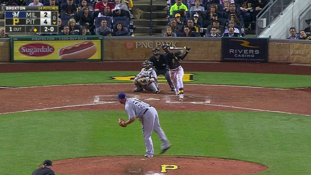 Pirates warm up in rematch with Brewers' Nelson