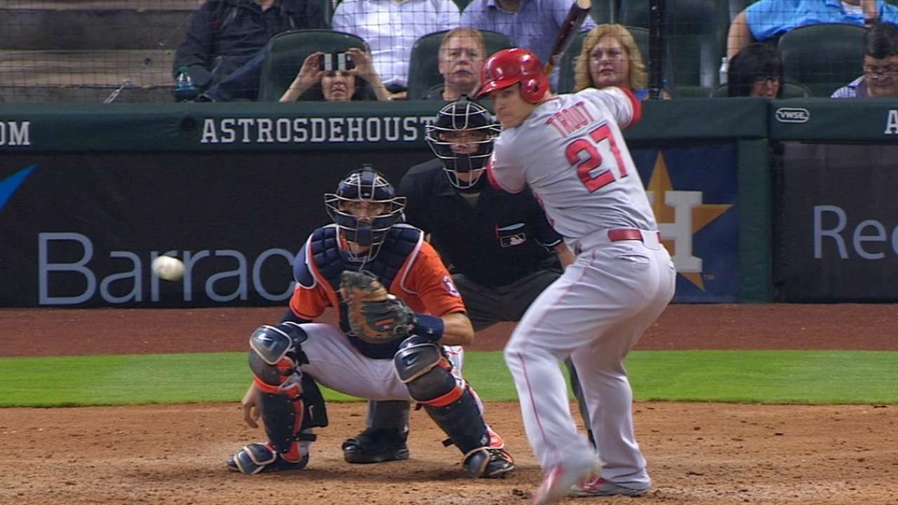 Trout's second homer of the game