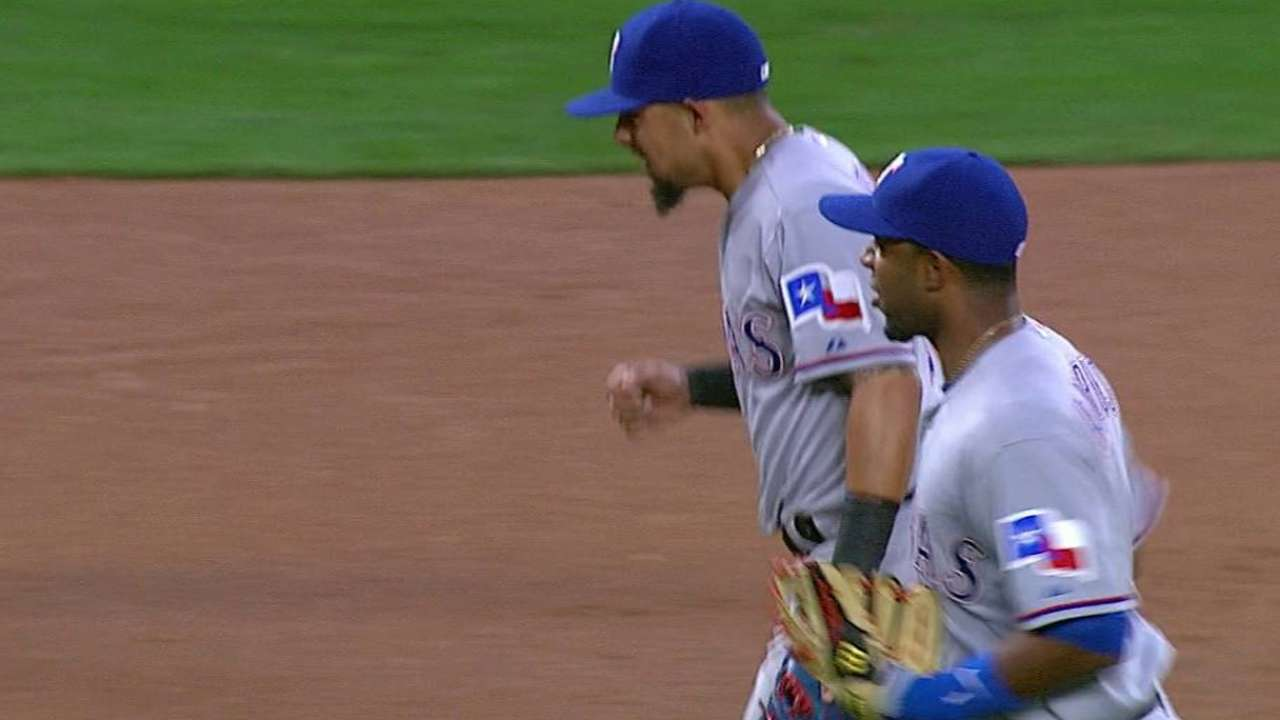 Odor, Andrus get odd double play