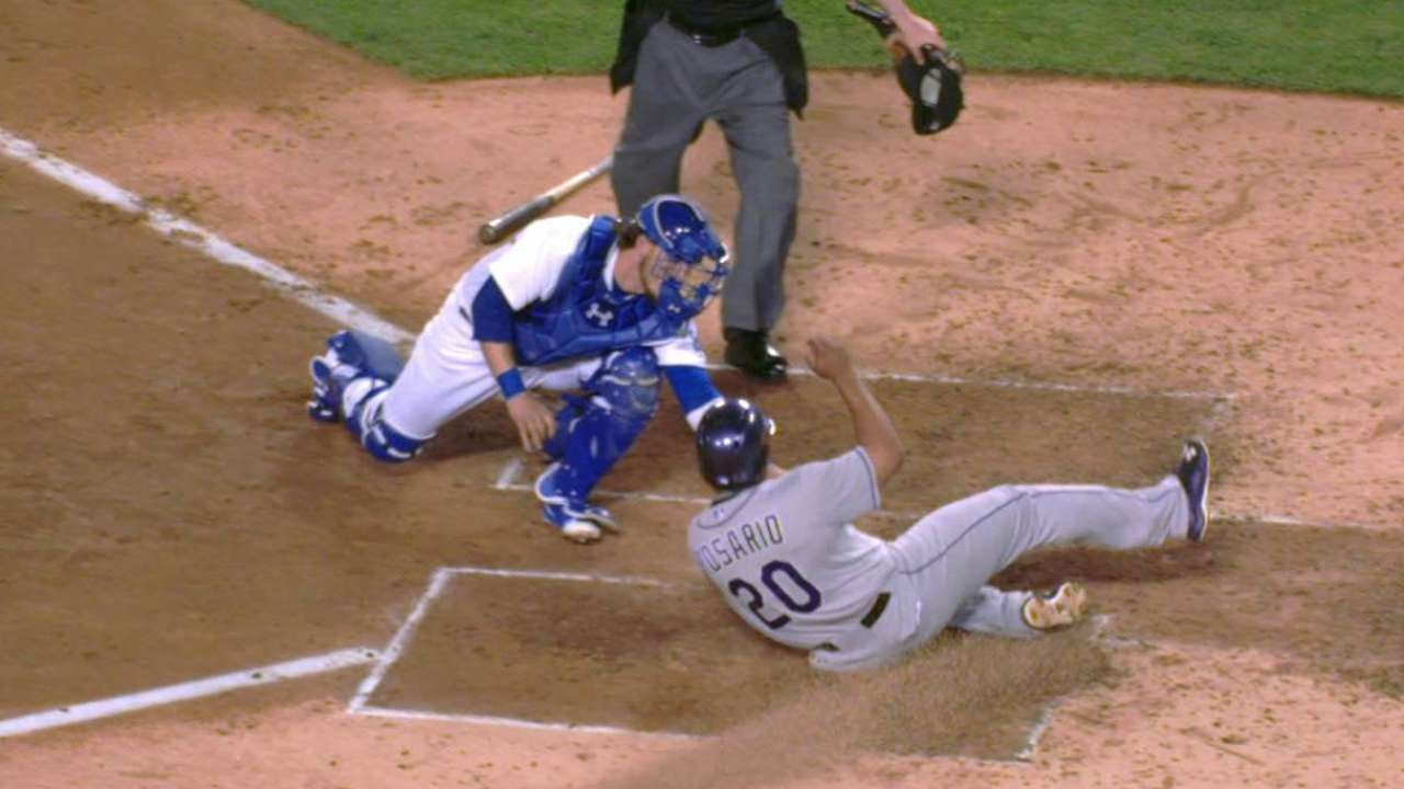 Ethier throws out Rosario