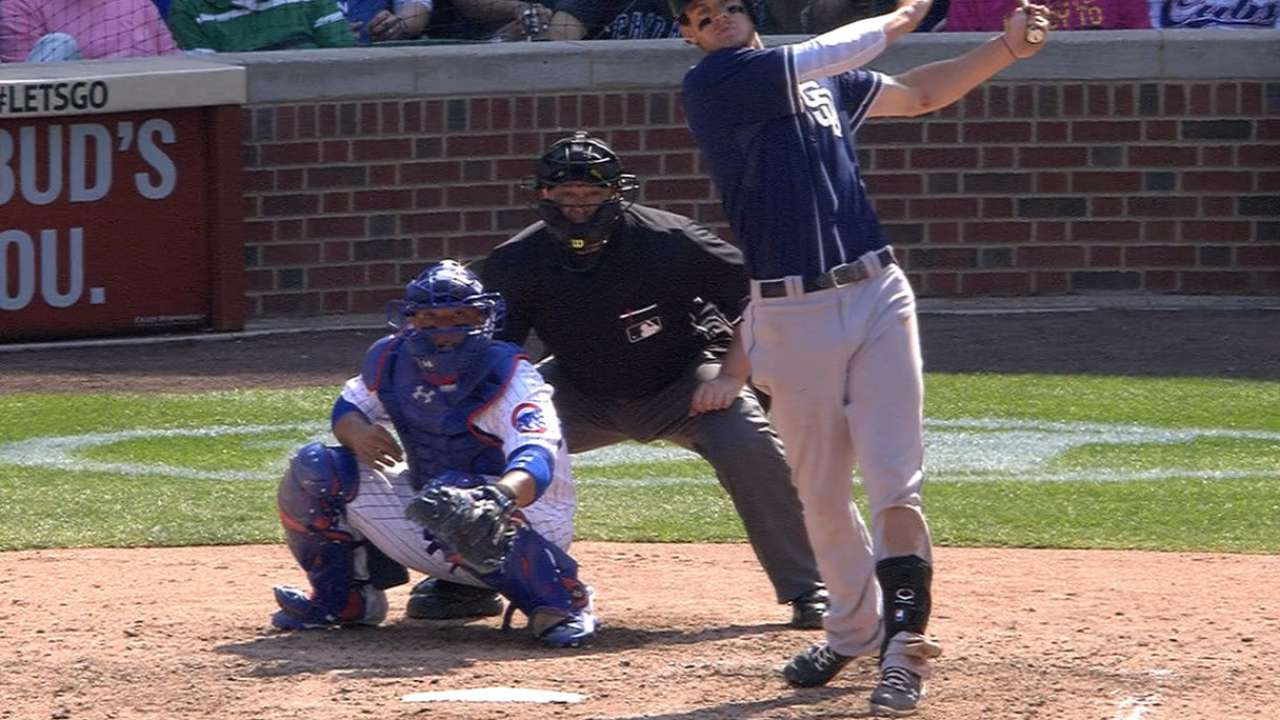 Bryant's big league debut spoiled by Myers' decisive blast