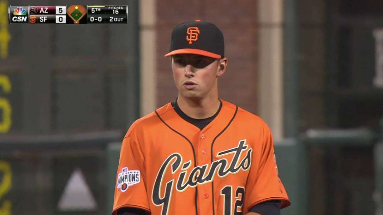 Giants' skid continues as Collmenter tosses shutout