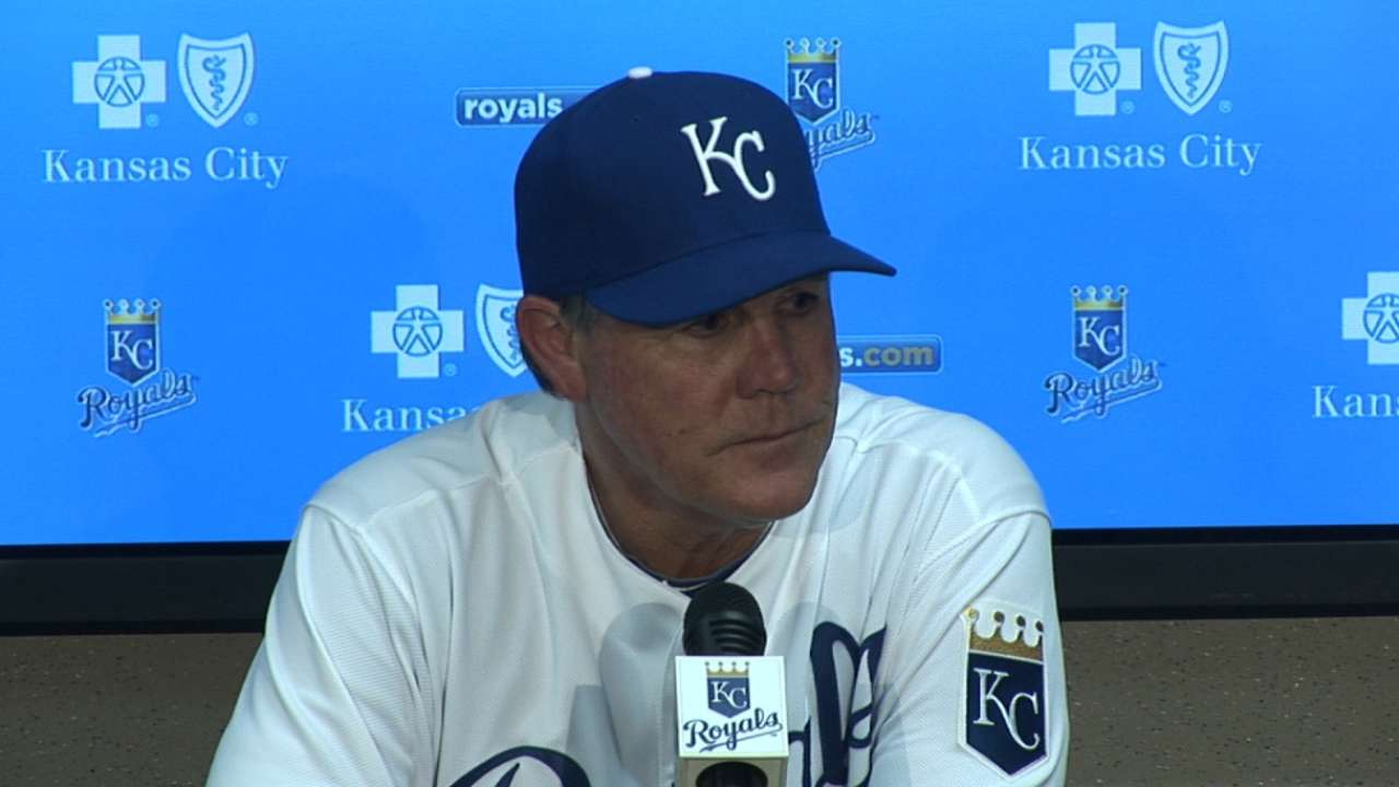 Yost on Escobar injury, bullpen