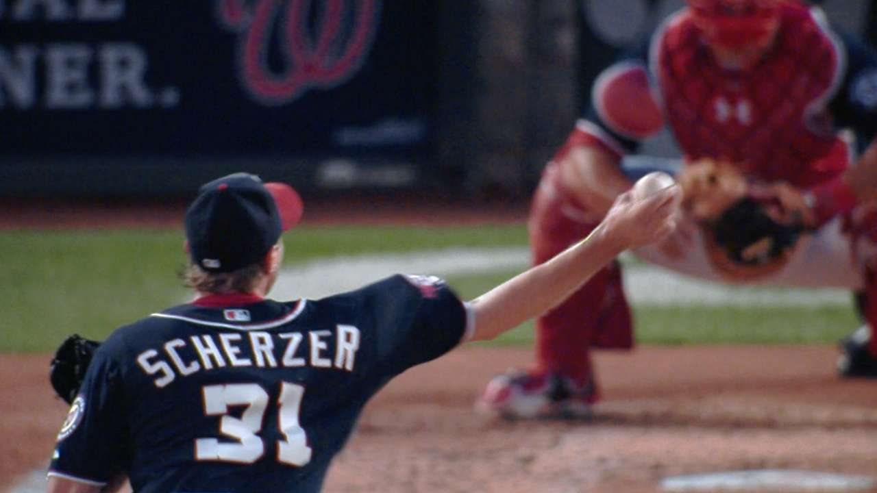 Dominant Scherzer finally gets first win with Nats