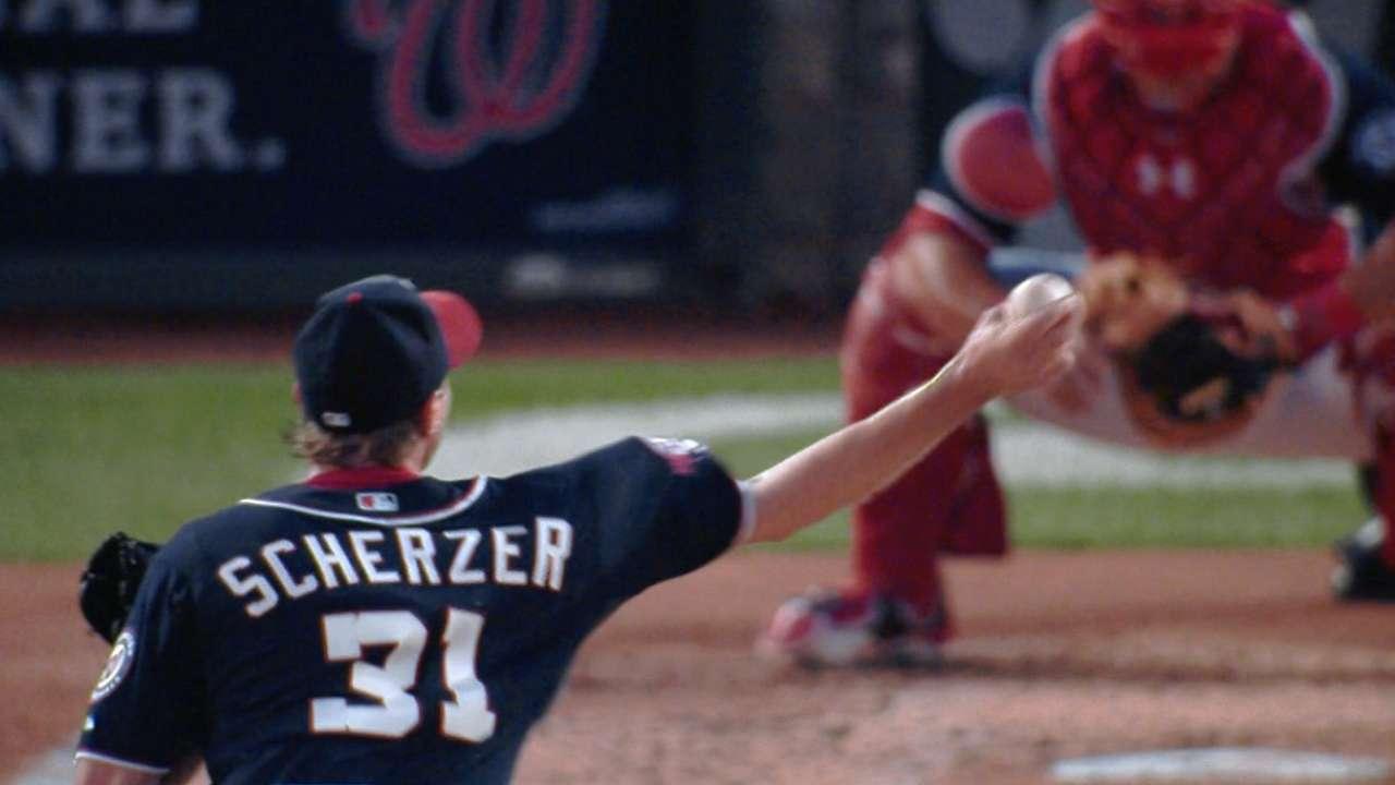 Harper, Espinosa power Scherzer to first win