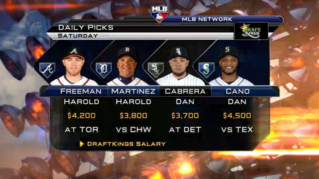DraftKings picks: Seager, Harper, De Aza