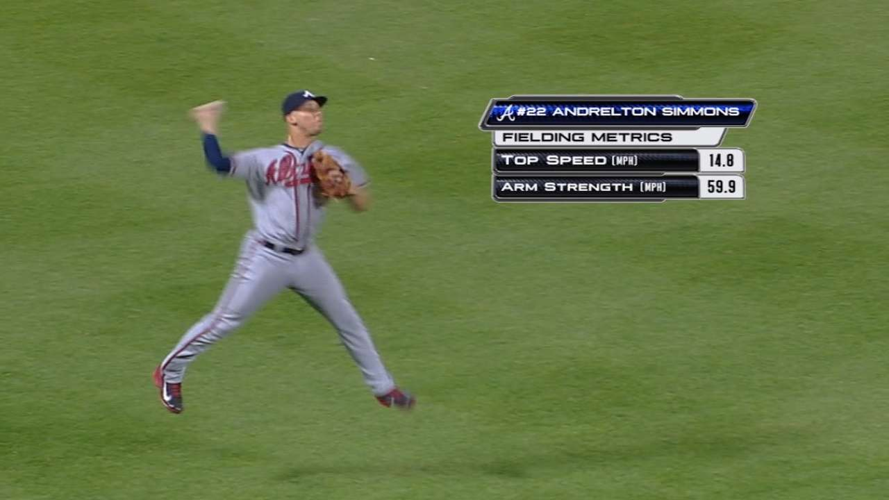 Statcast on Simmons' athleticism