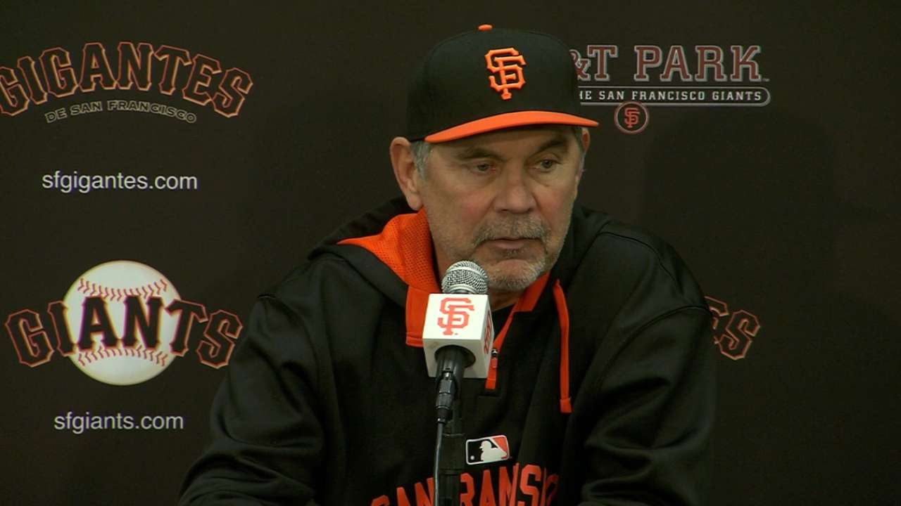 Bochy on fight of team in loss
