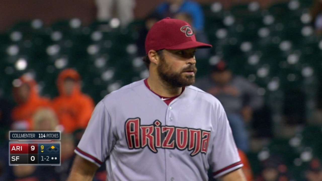 Collmenter's shutout a big relief for D-backs