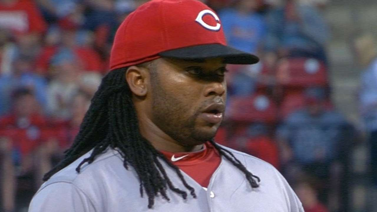 Cueto falls to 0-2 after risky move goes Cards' way