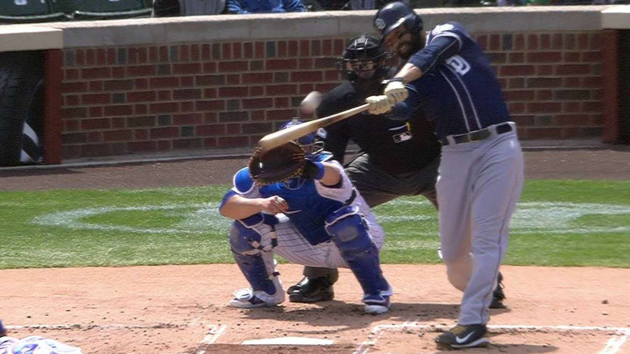 Kemp launches first homer with Padres