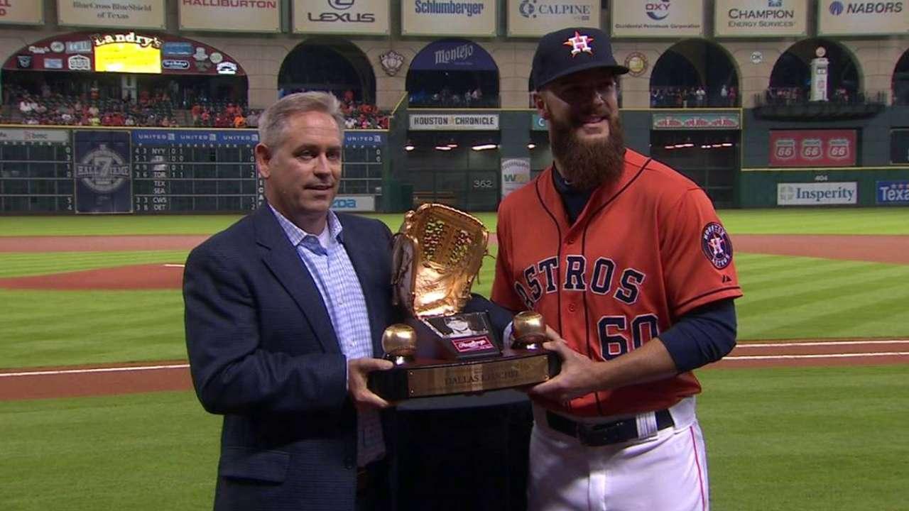 Keuchel's Gold Glove award